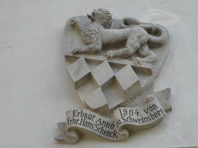 Schloss Buchenau Generalshaus Turm Wappen